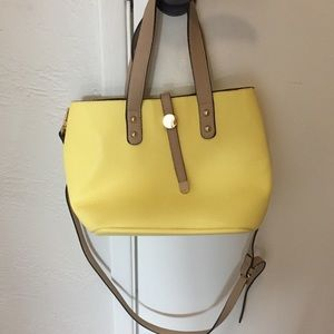 Charming Charlie Retired Yellow Duo Bag